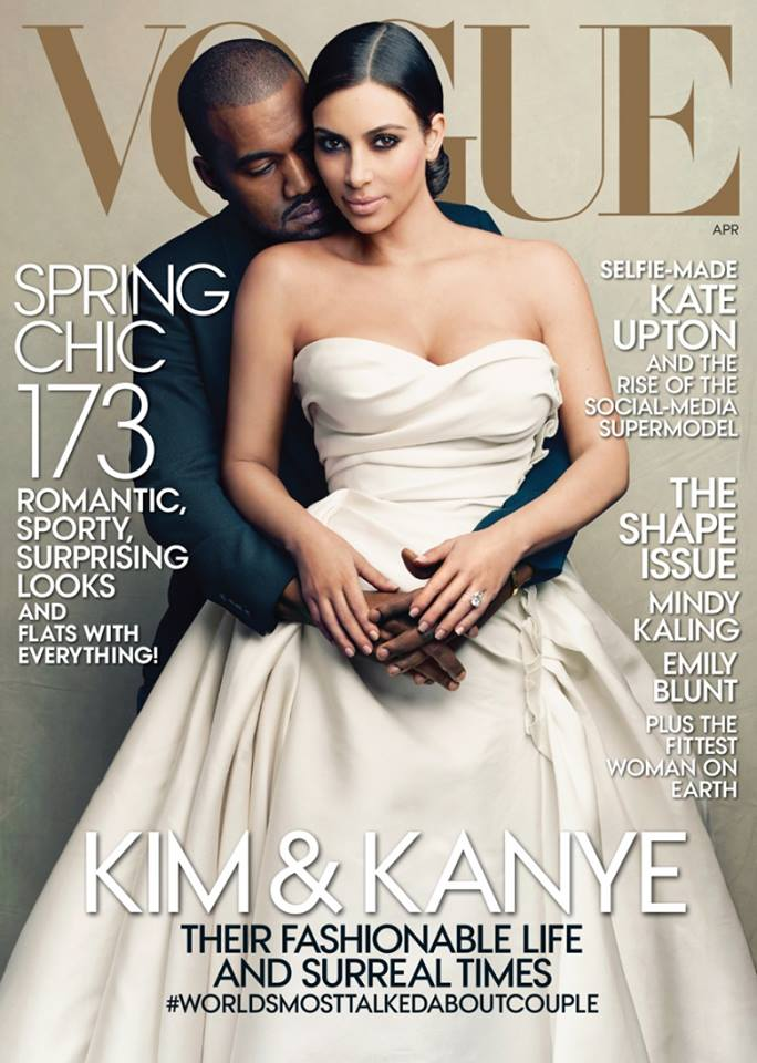 Post image for #Kimye Graces the Cover of Vogue