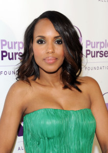 NEW YORK, NY - SEPTEMBER 15:  Kerry Washington attends the 2014 Allstate Foundation Purple Purse Programe hosted by Kerry Washington at The Glasshouses on September 15, 2014 in New York City.  (Photo by Craig Barritt/Getty Images)